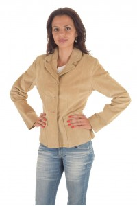 Велурено дамско яке