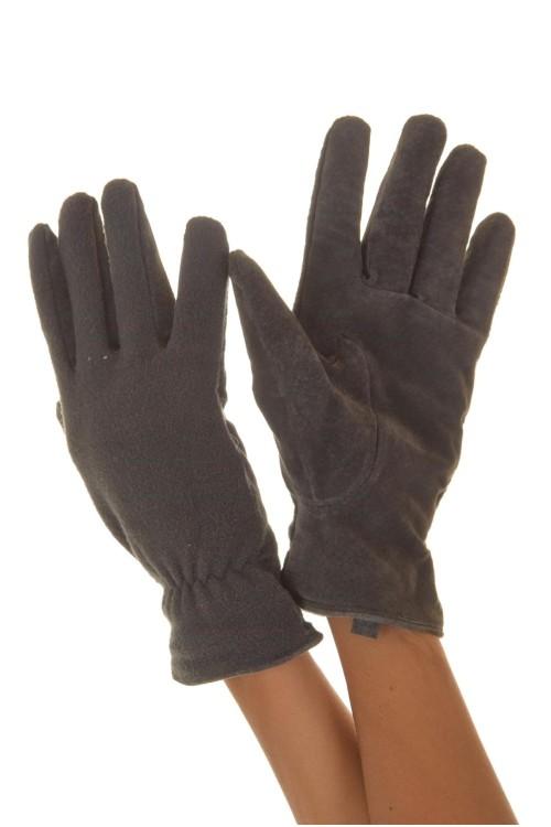 Сиви дамски кожени ръкавици 14.00
