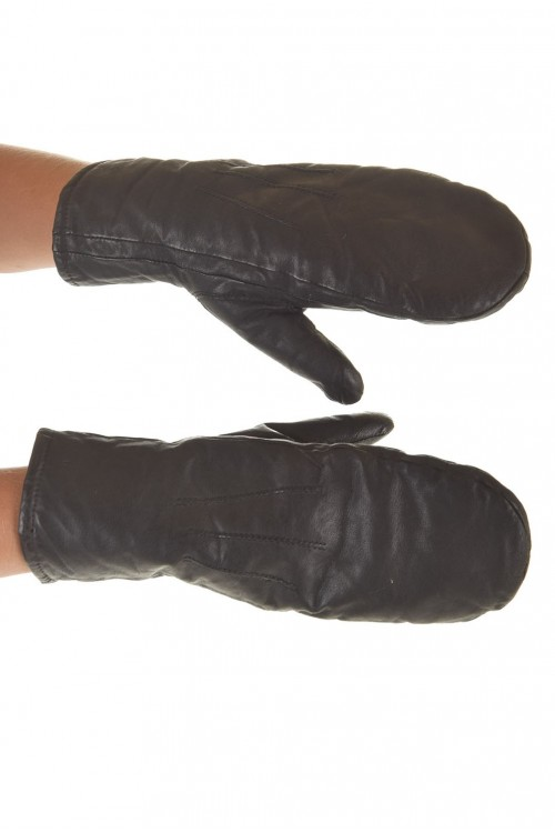 Женские перчатки кожи из плотной с мягкой и теплой подкладой 12.00