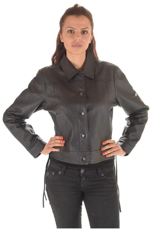 Чудесная кожаная куртка 65.00