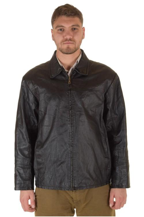 Классическая мужская кожаная куртка 74.00