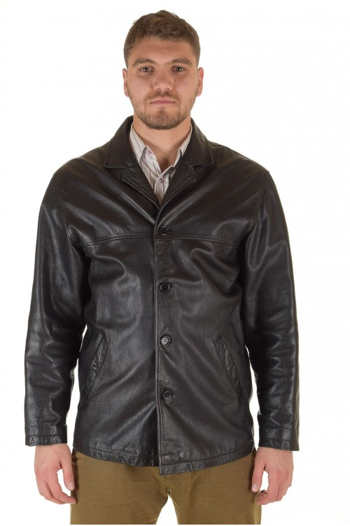 Отличная мужская кожаная куртка 72.00