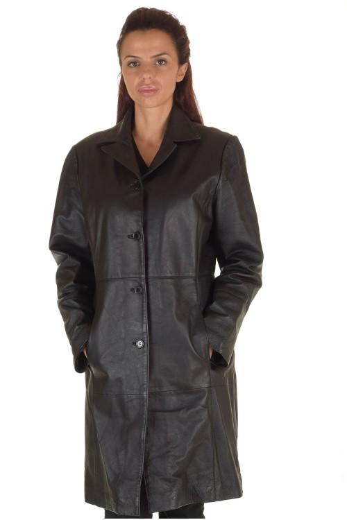 Хубав дамски кожен шлифер 67.00