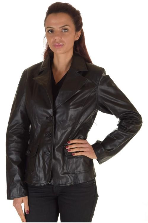 Современный женский кожаный пиджак 65.00