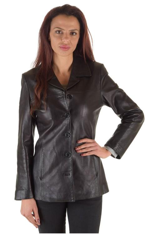 Класическо дамско кожено сако 63.00