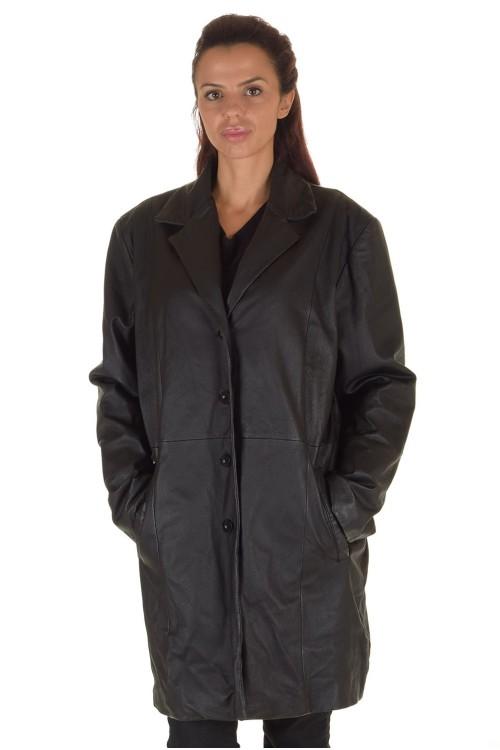 Класически дамски кожен шлифер 74.00