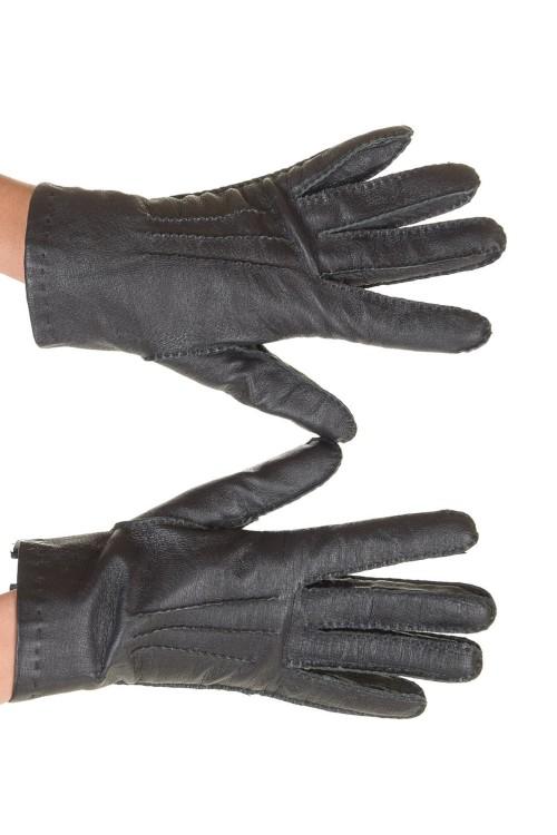 Представителни черни дамски кожени ръкавици 12.00