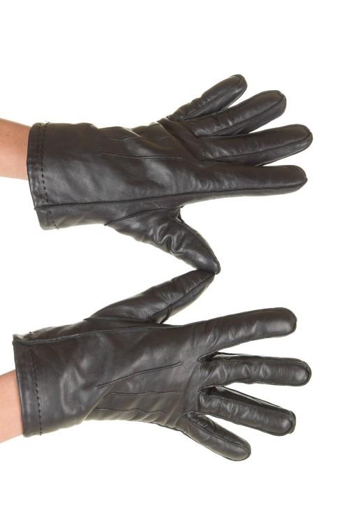 Черни дамски ръкавици от нежна и мека естествена кожа 18.00