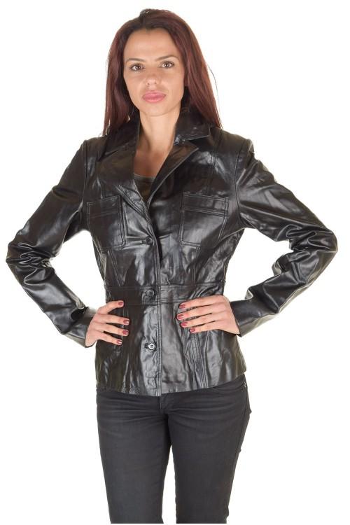 Превъзходно дамско кожено сако 59.00