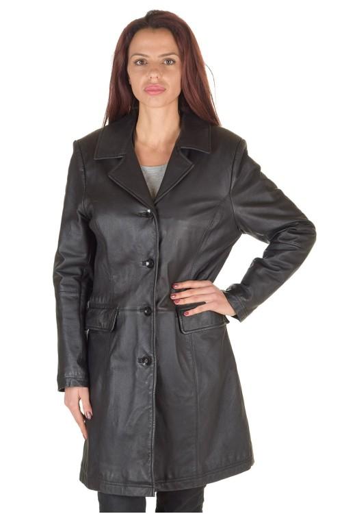 Дамски шлифер от естествена кожа 72.00