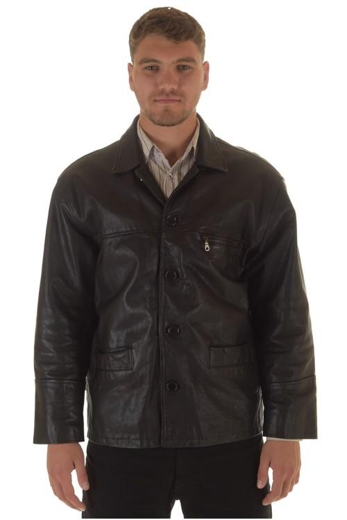 Мужская куртка кожи из плотной телячьей 69.00