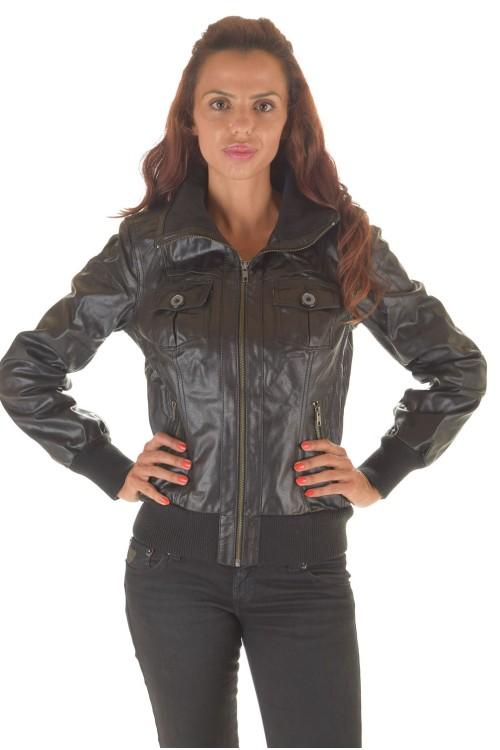 Женская куртка с талией, рукавами и воротником из хлопка 62.00