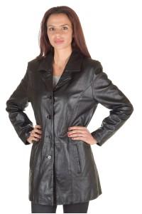 Дамски шлифер от нежна и мека естествена кожа