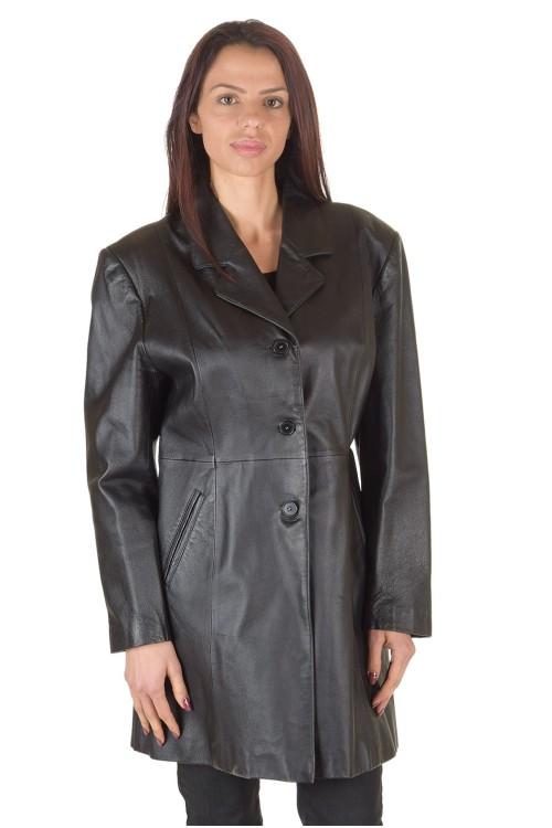 Чудесен дамски кожен шлифер 74.00