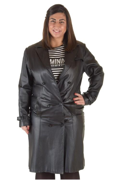 Представителен дамски кожен шлифер 86.00