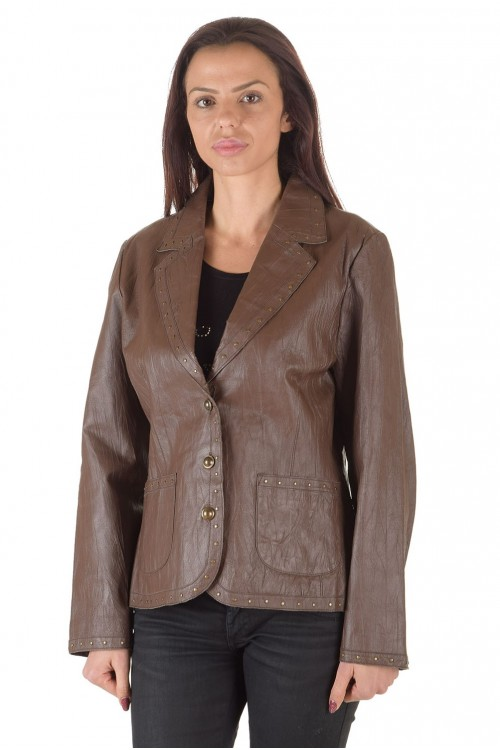 Хубаво дамско кожено сако 63.00