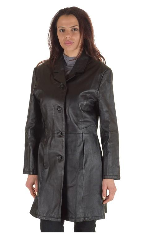 Луксозен дамски кожен шлифер 65.00