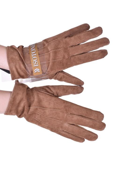 Хубави дамски велурени ръкавици от естествена кожа 18.00