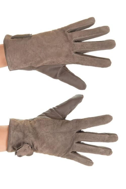 Тъмно кафяви ръкавици от естествена кожа 15.00