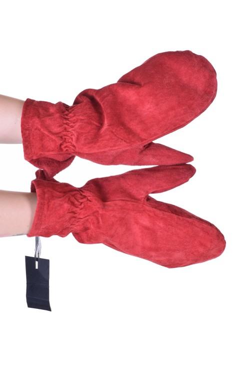Дамски велурени ръкавици от естествена кожа 15.00