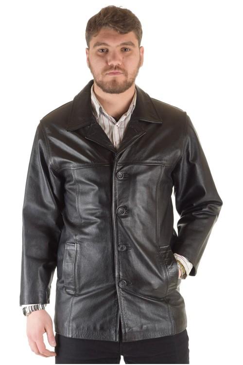Мъжко яке от плътна естествена кожа 89.00