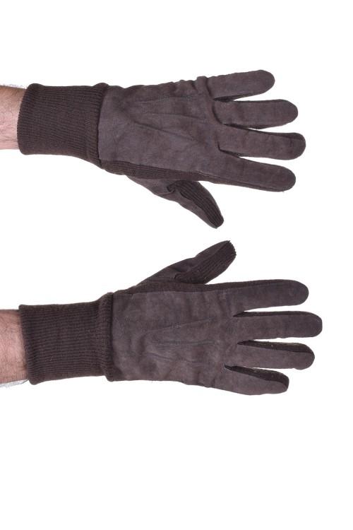 Мъжки велурени ръкавици от естествена кожа 15.00