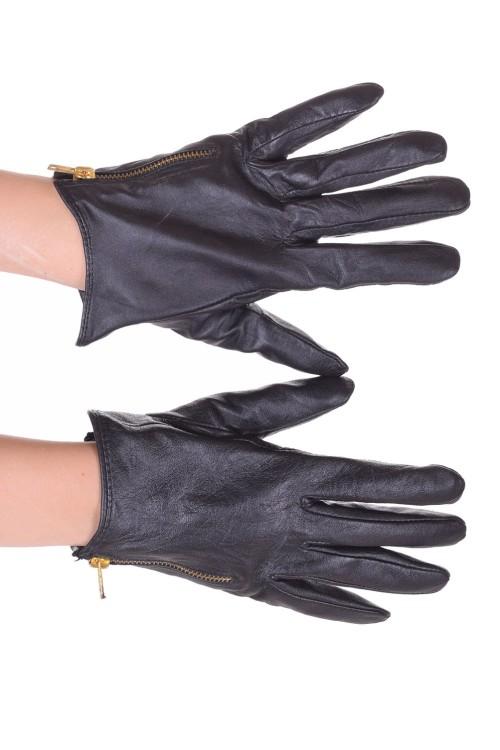 Черни дамски кожени ръкавици 15.00