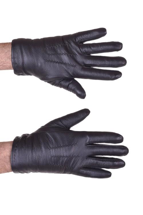 Черни мъжки кожени ръкавици 18.00