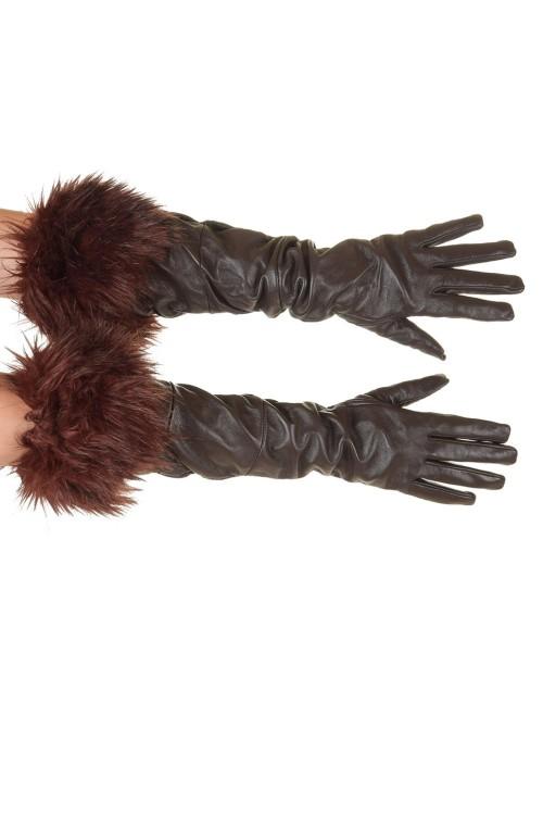 Екстравагантни дамски кожени ръкавици 28.00