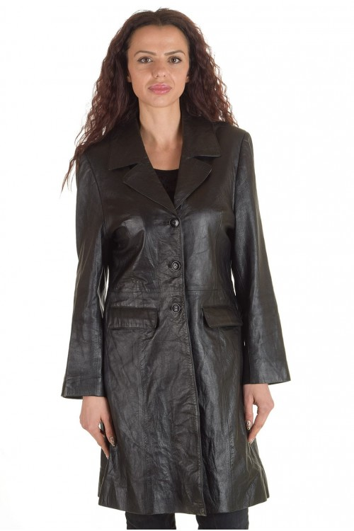 Стилен дамски кожен шлифер 59.00