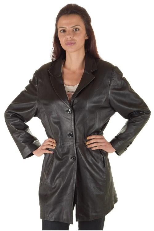 Хубаво дамско кожено сако 64.00