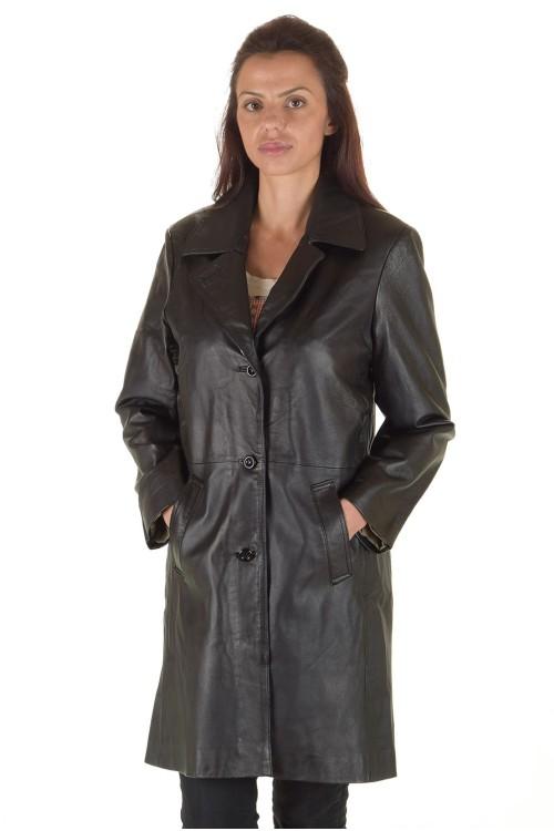 Представителен дамски кожен шлифер 78.00
