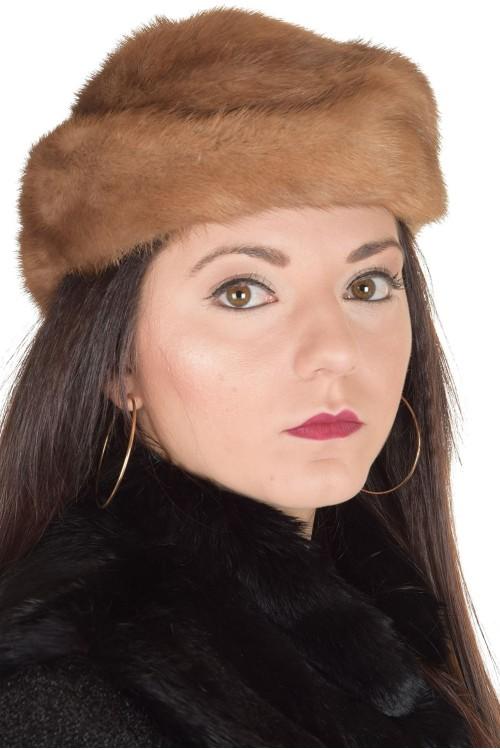 Светло кафява шапка от естествен косъм 29.00