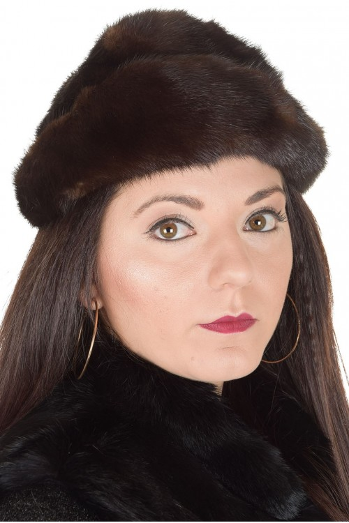 Красива дамска шапка от норка 29.00