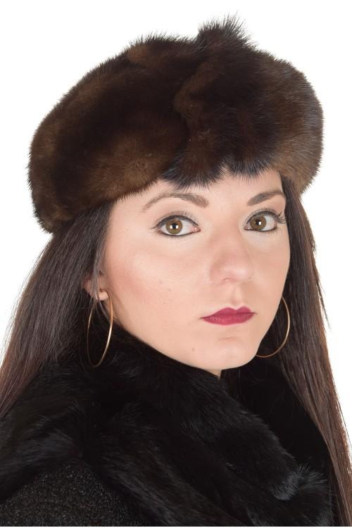 Представителна дамска шапка от норка 29.00