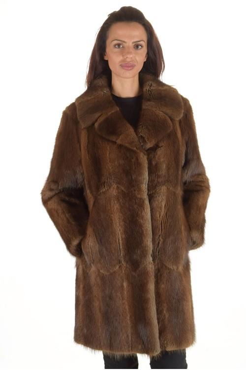 Красиво палто от естествен косъм 149.00