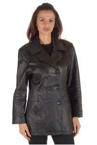 Грациозно дамско кожено яке