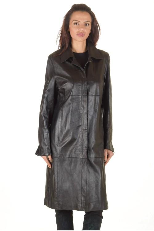 Стилен дамски кожен шлифер 75.00