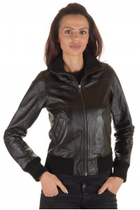 Модно дамско кожено яке