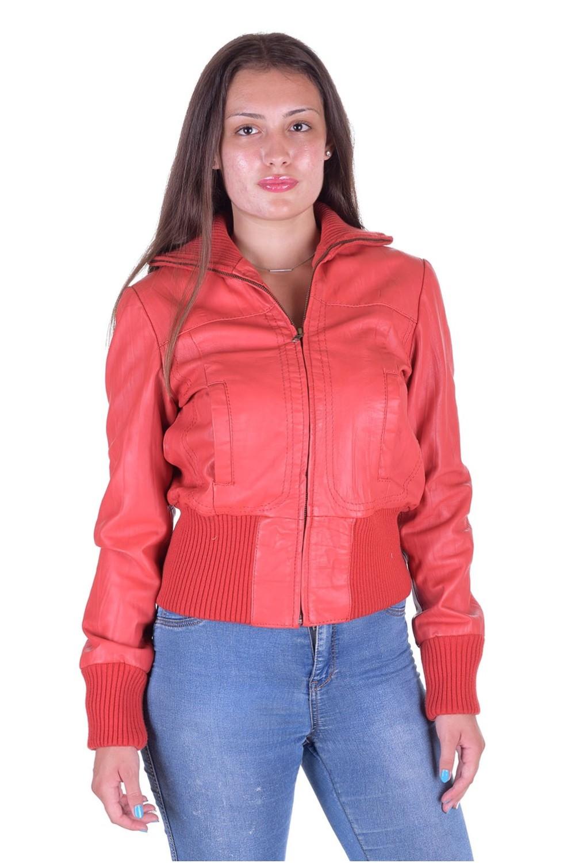 Чудесная женская кожаная куртка 70.40 ... 1cd2a25d39ddb