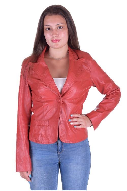 Червено кожено сако 64.00