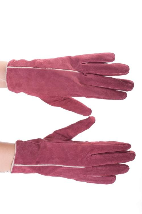 Тъмно червени дамски велурени ръкавици 15.00
