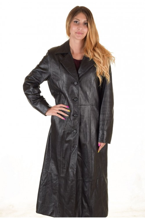 Дамски кожен шлифер 64.00
