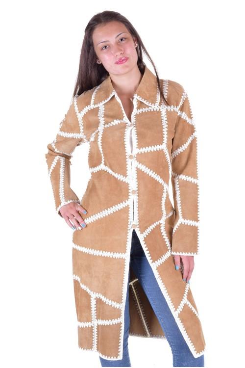 Дамски велурен шлифер 69.00