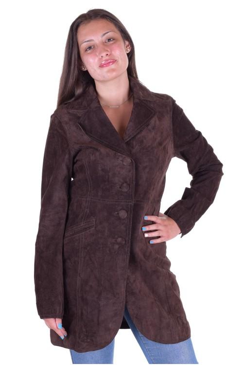 Велурен шлифер от естествена кожа 35.00