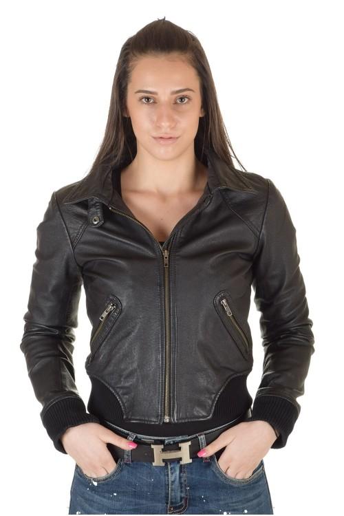 Брендовая женская кожаная куртка 64.00