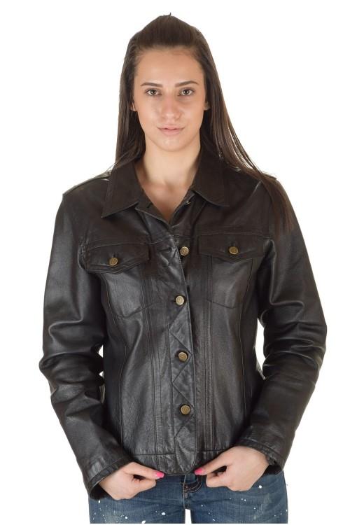 Первоклассная женская кожаная куртка 69.00