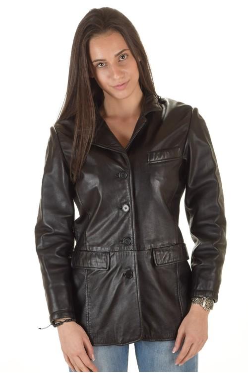 Красивый женский кожаный пиджак 69.00
