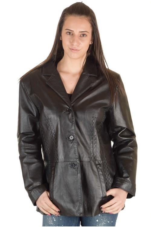Элегантный женский кожаный пиджак 79.00