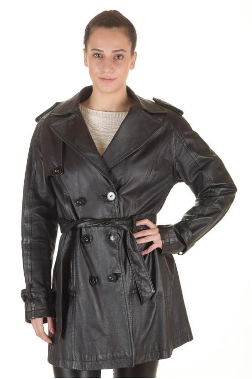 Представителен дамски кожен шлифер 88.00